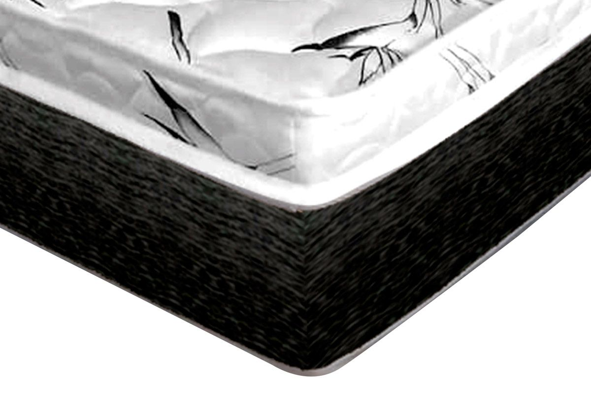 Conjunto Box: Colchão Castor Molas Bonnel Class New + Cama Box  Baú Nobuck Nero Black
