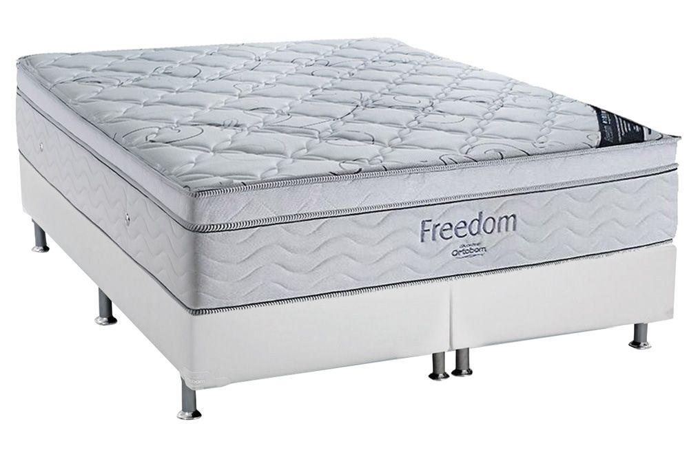 Conjunto Box: Colchão Ortobom SuperPocket Freedom + Cama Couríno White